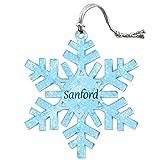 Die besten Sanford Urlaub - Acryl Weihnachtsbaum Urlaub Schneeflocke Ornament Namen Stecker sa-sh Bewertungen