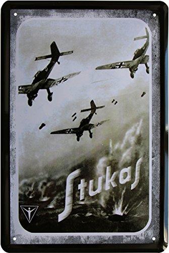 Blechschild 20 x 30 cm Stukas Flugzeug Luftkampf Deutsches Reich Weltkrieg Metall Schild