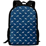 best& Stylish Navy Blue Greyhound Dog Laptop Backpack School Backpack Bookbags College Bags Daypack