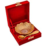 Home Decor Tableware Serving Decorative Bowls Gifts Pack God Pleated Serving Bowl Heart Shaped Bowl Spoon Set Box Packing Brass Bowl Traditional Bowl Set Beautiful Gifts