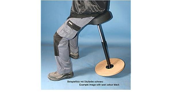 Sgabello ergonomica con arrotondata base circolare seduta blu