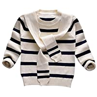 LOSORN ZPY Toddler Baby Boy Girl Knit Sweater Kid Sailor Pullover Sweatshirt white 130