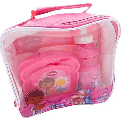 Doc McStuffins 3 Stück Lunch Bag Set: Lunch Bag, Sandwich Box & Trinkflasche