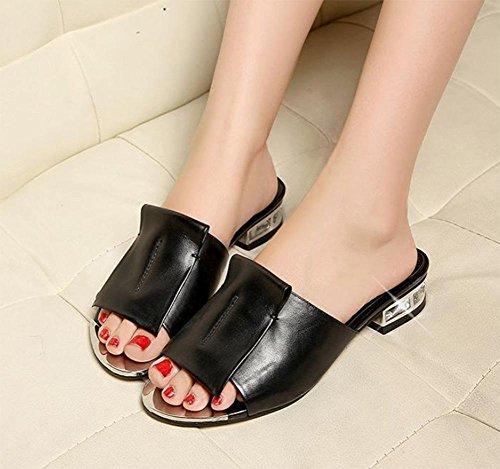 Sandales Avec Ceinture Noire Thekla Sur Vous UZDzH