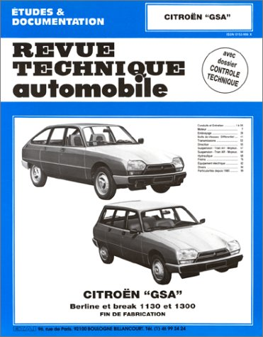 Revue Technique Automobile, N° 399.3 : Citroën GSA 1130 ET 1300, fin de fabrication