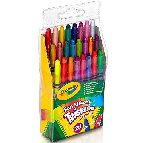 Twistables Fun Effects Crayons 24/Pkg-Neon. Metallics. Rainbow