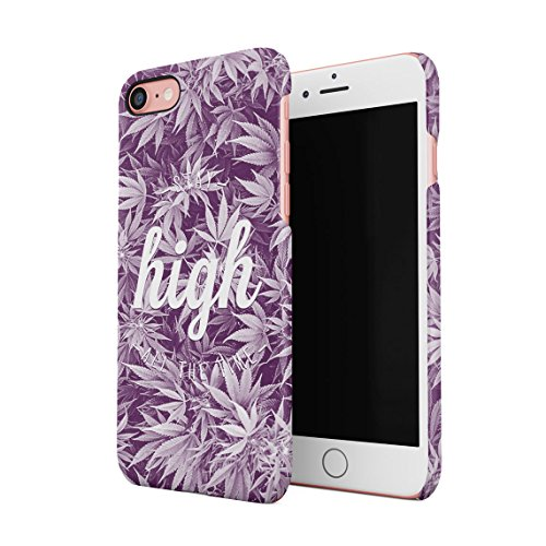 Chill Trippy Cannabis Leaves Pattern Dünne Rückschale aus Hartplastik für iPhone 7 & iPhone 8 Handy Hülle Schutzhülle Slim Fit Case cover Faded Stay High