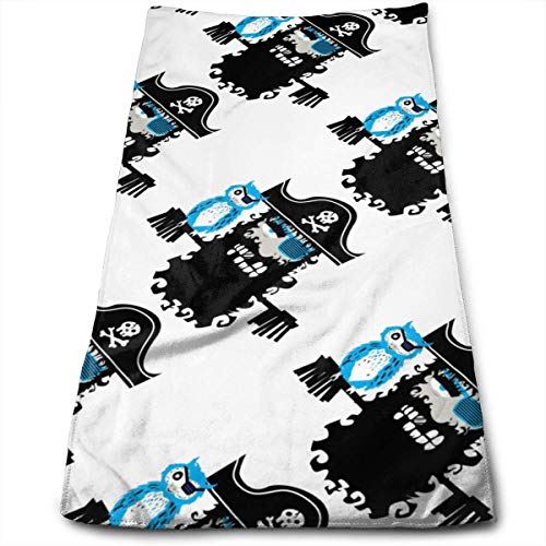 Hipiyoled Fashion Pirates Fade-Resistant Super Absorbent Shower\Beach\Bath Towels Workout,Gym,Fitness,Golf,Yoga,Camping,Hiking,Bowling,Travel,Outdoor Sports Towel (Pirate Halloween-make-up Boy)