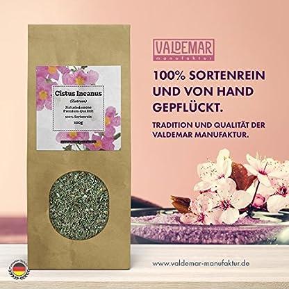 Zistrosen-Kraut-geschnitten-100g-Cistus-Incanus-LPandalis-Sorten-rein-100-NATUR-in-Premium-Qualitt-Schonend-HANDVERPACKT-In-Deutschland-Ein-Marken-Produkt-aus-der-Valdemar-Manufaktur