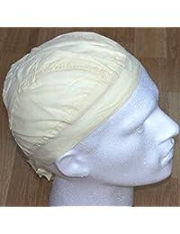 plain WHITE Zandana formed Bandana / headwrap / danna / do rag