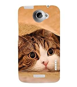 Fuson Designer Back Case Cover for HTC One X :: HTC One X+ :: HTC One X Plus :: HTC One XT (Pussy Cat Pluffy cat Pet Cat Cat White Cat)