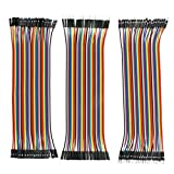 Philonext 120Pcs Dupont Wire 20cm Multicolored Jumper Wires Dupont Cable 40pin Male to Female, 40pin Male to Male, 40pin Female to Female for Breadboard Ribbon Cables Kit