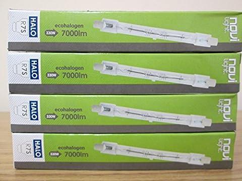 Megaman Novilight Lot de 4 ampoules halogènes à tungstène R7S économes en énergie Variateur d