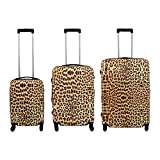 PMro-Trading Euro-Trading Nepal Suitcase 3 Pieces Size - Set. Color- Multicolour Koffer. 76 cm. 94 liters. Türkis (Multicolour)