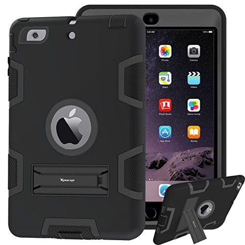 korecase iPad mini Cover Silikon iPad mini 2Fall stoßabsorbierenden Hybrid Triple Layer Armor Defender Full Body Schutz stoßfest Fall für iPad mini 123 schwarz schwarz