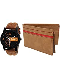 XPRA Analog Watch & Wallet Combo For Men's & Boys-WCH-WL-3-SS