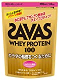 SAVAS Whey Protein 100 Strawberry flavor - 1.0kg [Health and Beauty]
