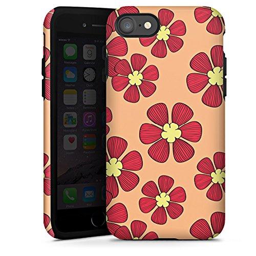 Apple iPhone X Silikon Hülle Case Schutzhülle Blumen Flower Bunt Tough Case glänzend