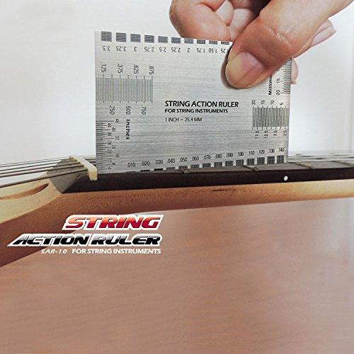 Sided Multi-Funktion String Action Gitarre Set bis Gauge Lineal Benutzerhandbuch Mess-Werkzeug für E-Gitarre, Akustik Bass Gitarren