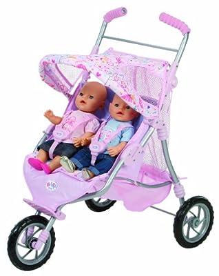 Baby Born - Baby born: cochecito de gemelos (Bandai 817506) de Bandai