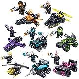 BOROK 16Stück Mini Figuren Set Polizei SWAT Team Armee Soldaten Minifiguren Bausteine Spielzeug für Kinder