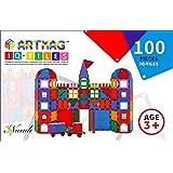 ARTMAG IQ TILES ARTMAG IQ-TILES Magnetic Tiles for Kids - 100 Pieces
