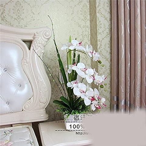 DSAAA Künstliche Blume Orchid Keramik Vasen Home Wohnzimmer Flur Dekor