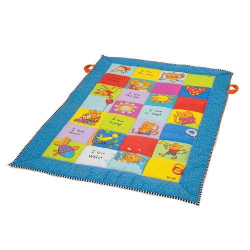 Taf Toys 10845 Sehr große Spieldecke, Baby Krabbeldecke, Erlebnisdecke, 100 x 150 cm, weich gepolstert