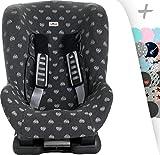 Schutzhülle Universal für Auto-Kindersitz Gruppe 1, 2 und 3 Janabebe® (Blue Heart)