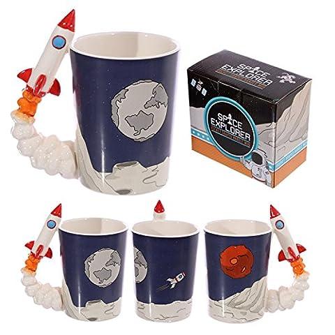 Moon Landing Space Rocket Handle Tea Or Coffee Mug - One Size, Rocket