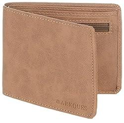 MarkQues Invader Tan Leather Mens Wallet (IND-4404)
