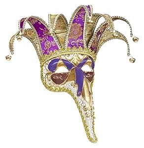 WIDMANN 1655?Jolly máscara con nariz larga Lusso, varios colores, talla única