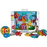 Playgro Activity Rassel- und Beißring-Geschenkset 40197-4-teilig - Ab 6 Monaten