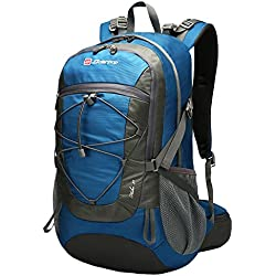 Soarpop Ultraleichter Outdoor-Sport Rucksack Wanderrucksack Trekkingrucksack für Camping, Klettern, Radfahren (35L Blau)