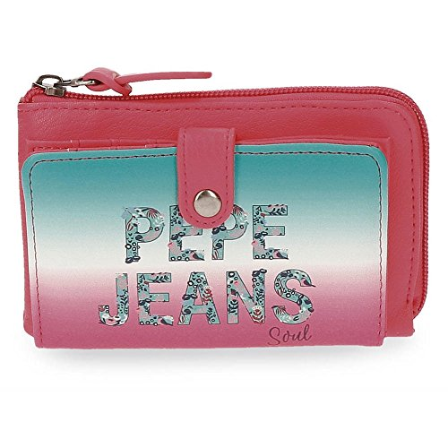 Billetera Pepe Jeans Nicole Cartera de piel sintética con monedero y tarjeteros varios Producto Pepe Jean London Dimensiones:14.00 x 9.00 x 1.50