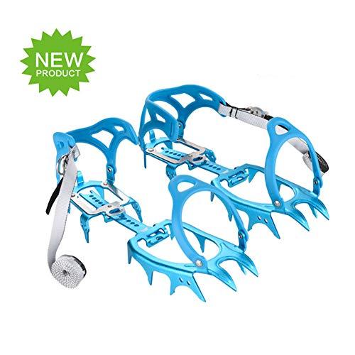 Tentock Allaperto Ultraleggero 14 Denti Artigli Ramponi per Scarponcini da Trekking Lega di Alluminio Ice Claws per Arrampicata Alpinismo