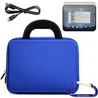 Gizmo Dorks rigida custodia in EVA con maniglie in neoprene (Blu), protezione per schermo, e Micro cavo USB e moschettone portachiavi per il HP TouchPad