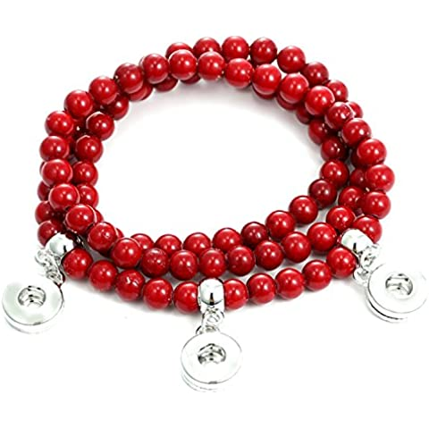 Bracciale Morella 12 mm con Click-Button SMALL e perle