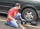 P.I. Auto Store - Tyre Inflator - Dual Electric Power 12V DC (vehicle) 230V / 240V AC (mains). Portable Air Compressor Pump - with storage bag…