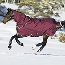 Rambo Duo 2-In-1 Horse Turnout Rug - Burgundy/Duck Egg/Black