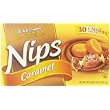 Nips Caramel Rich & Creamy Hard Candy, 4-Ounce per box, 30 calories per piece, (Pack of 9) by N/A