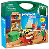 Playmobil Santa's Workshop Carrying Case 5987 - Weihnachtsmann & Elf im Trage...