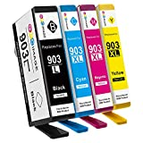 GPC Image 4 Multipack 903 XL Remanufactured Tintenpatrone für HP 903 XL 903XL Druckerpatronen (1 Schwarz, 1 Cyan, 1 Magenta, 1 Gelb) Kompatibel mit HP Officejet Pro 6950 6960 6970 All-in-One Drucker