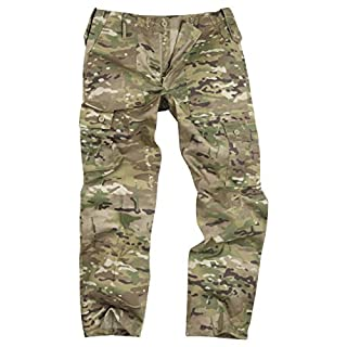 6 Pocket Camouflage Combat Cargo Trousers - Multi Camouflage (36)