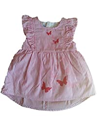 Pezzo Doro Baby Mädchen N21007 Kleid mit Höschen rose striped