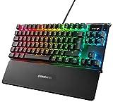 SteelSeries Apex Pro TKL Mechanische Gaming-Tastatur (mit anpassbarer Betätigung, OLED Smart Display, Englisches QWERTY - Kompakt -Layout [Edizione: Germania]