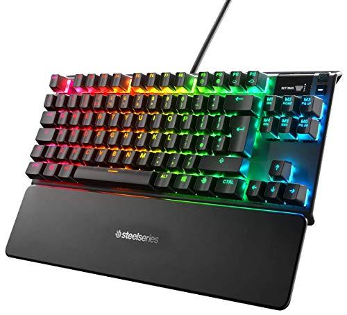SteelSeries Apex Pro TKL Mechanische Gaming-Tastatur (mit anpassbarer Betätigung, OLED Smart Display, Englisches QWERTY - Kompakt -Layout