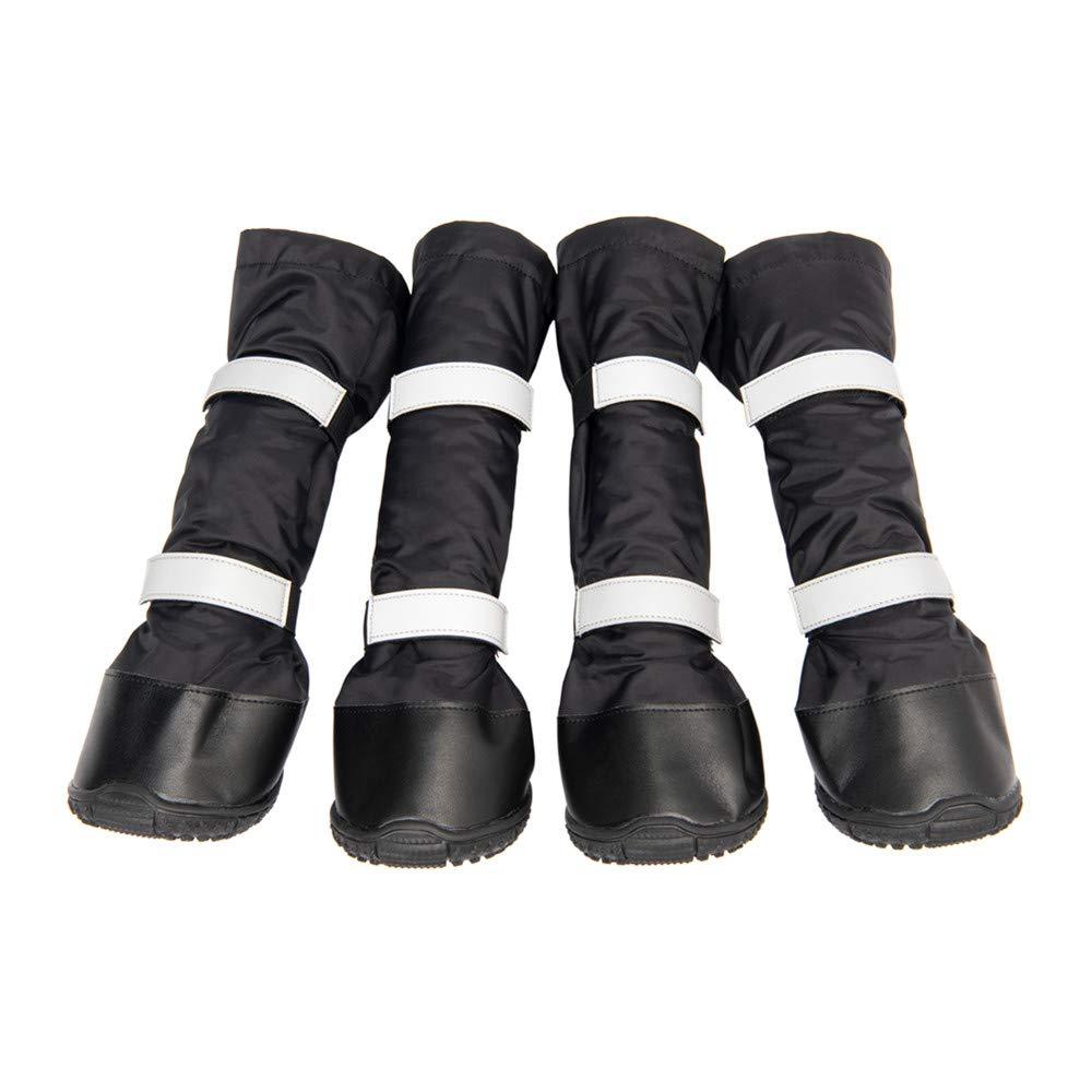 Hyindoor Chaussures Imperméable Chaudes d'hiver pour Chien Bottes Longues Antidérapantes de Conception Réfléchissante Conçues pour Chiens de Taille