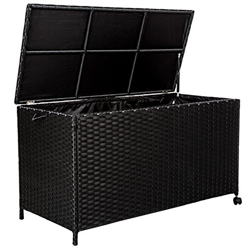 tectake-cassapanca-baule-multiuso-alluminio-contenitore-da-giardino-poly-rattan-esterno-con-rotelle-