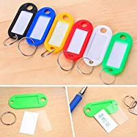 Coolcase Type Plastic Luggage Identification ID Label Tags Key Ring 12pcs Coloured